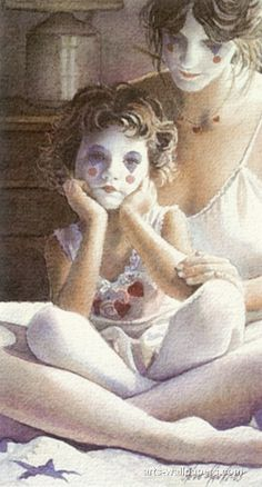 Two of a Kind -- watercolor By Artist Steve Hanks, American Watercolor Artists, Watercolor Paintings, Watercolors, San Diego, The Mind's Eye, Two Of A Kind, Mother And Child, American Artists, Artist At Work