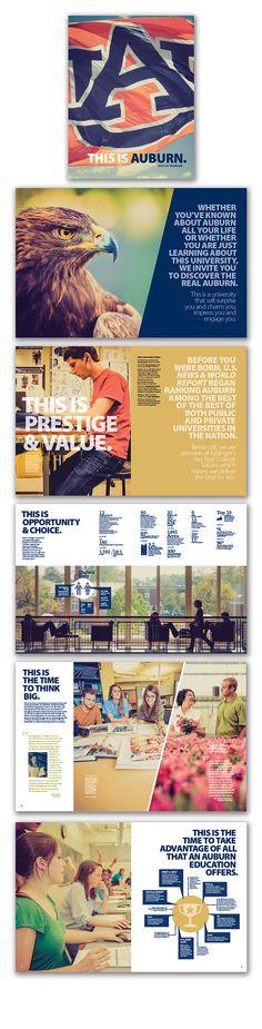 This is Auburn. on Behance 2013-14 Viewbook