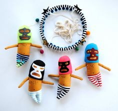 Luchador Mobile Made to Order Modern Nursery by PinkCheeksStudios, $150.00 *i don't know, i just like it