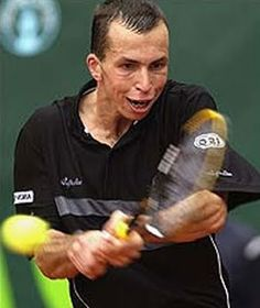 I have a few tennis action shots with funny faces like this