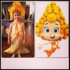 Bubble Guppies Halloween Costumes girls perfect pixie costume Halloween Costume Dema From The Bubble Guppies To Make Hair Just Tie Luffas