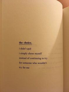 The choice.