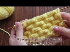 Красивый узор из складок, эффект «Клоке», видео | Kloke knitting pattern - YouTube