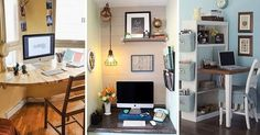 10 Tiny Home Offices That Get the Job Done. #rhondasrealestate