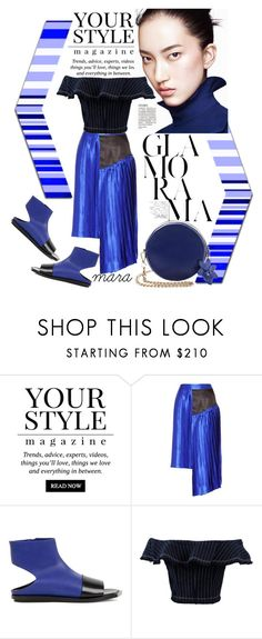 """""""Blues on a sunny Monday afternoon... :-)"""" by marastyle ❤ liked on Polyvore featuring Pussycat, Public School, Marni and T By Alexander Wang"""