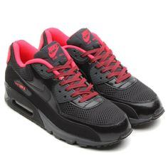 Nike WMNS Air Max 90 Bred Black Red Fusion Running