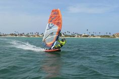 Eduardo Arcirio at fisherman's huts Aruba #windsurfing #travel #aruba