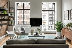 Apartment with exposed brick wall | photos by Sean Litchfield Follow Gravity Home: Blog - Instagram - Pinterest - Facebook - Shop