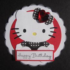 Handmade Happy Birthday Hello Kitty Card by Anything Scrappy http://anythingscrappy.wordpress.com