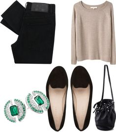 A bare neck and our beautiful Emerald of light earrings is a wonderful combination 💚 http://shardsoflondon.com/emerald-of-light  #OOTD #Jewellery