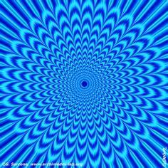 Blue Vortex Optical Illusion - http://www.moillusions.com/blue-vortex-optical-illusion/