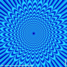 Blue Vortex Optical Illusion - http://www.moillusions.com/blue-vortex-optical-illusion/