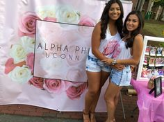 Big & Little at the Greek Expo!   Roses - Chainsmokers Theme  Recruitment 2016 Alpha Phi Banner  Alpha Phi UConn