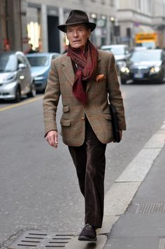 Lombardian man on the street in downtown Milan. January 2013.