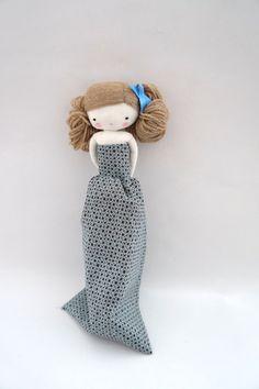 Marilyn handgemachte Puppe Stoff Stoffpuppe von lassandaliasdeana