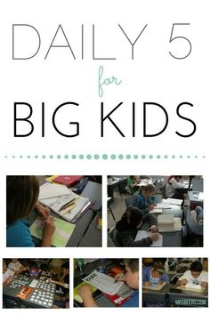 Tips to Incorporate the Daily 5 into your Grades 4-8 Classroom