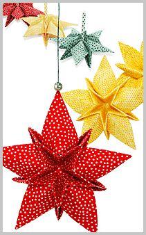 New Origami Decoration Kirigami Christmas Ornament Ideas Folded Fabric Ornaments, Origami Ornaments, Quilted Christmas Ornaments, Christmas Origami, Paper Ornaments, Christmas Sewing, Christmas Projects, Fun Projects, Christmas Fabric Crafts