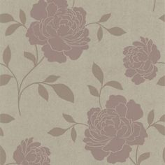 56 sq. ft. Clara Brass Floral Silhouette Wallpaper-301-66921 - The Home Depot