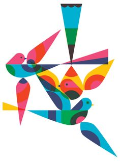 I like the way Patrick Hruby has used these geometric shapes to construct his illustration.
