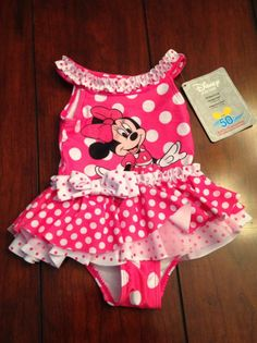 NWT MINNIE MOUSE BATHING SUIT Toddler Girl DISNEY STORE 18-24 Months