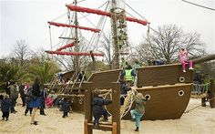 Has to be at the top of my list of reasons of why I love the UK...they have pirate ship playgrounds!