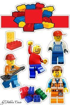 Lego Cake Topper, 30th Birthday Cake Topper, Boss Birthday, Lego Birthday Party, Legos, Lego Font, Simple Birthday Cake Designs, Diy Photo Booth Props, Bakery Logo Design