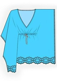 4130 PDF Sewing Pattern for Tunic, Personalized for Custom Size, Women Clothing. Could use for crochet pattern