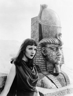 Claudette Colbert in 'Cleopatra', directed by Cecil B. DeMille, 1934...