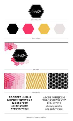 Brand board for zsazsagaboury.com  -Having an underlaying pattern or texture can add a lot of visual interest