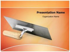 Trowel Powerpoint Template is one of the best PowerPoint templates by EditableTemplates.com. #EditableTemplates #PowerPoint #Color #Reflection #Metal  #Work #Plasterer #Concrete #Manual #Brickwork #Steel #Shiny #Repairing #Wood #Hand #Painter #Wall #Construction #Tool #Straighten #Flat #Smooth #Mason #New #Cement #Occupation #Equipment #Handle #Trowel #Worker #Bricklayer #Plaster