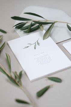 Tuscany Botanical Wedding Invitations by Love Prints