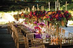 This rich color palette is perfect for a fall wedding!