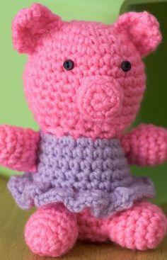 Little Crochet Piggy Crochet Pattern easy