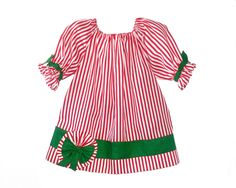 Girls Christmas Dress Outfit Kids Baby Toddler Peppermint  2t 3t 4t 5 6 handmade Ready to ship in most sizes. $26.00, via Etsy.