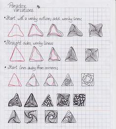 (2012-09) Paradox - variation # 1 Zentangle idea