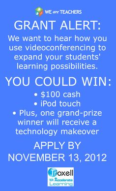 We want to hear how you use videoconferencing to expand your students' learning possibilities. #weareteachers #grants