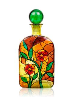 painted bottles - How To Paint Glass Bottle