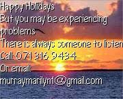 Let us not forget those who may be experiencing problems over the festive season