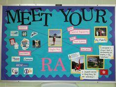 Meet your RA bulletin board! #RA #ResLife More