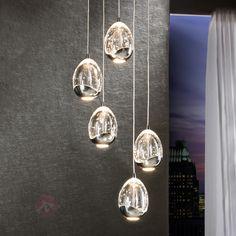 Fünfflammige LED-Hängeleuchte Rocio, chrom 8582201
