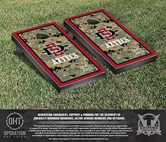 Operation Hat Trick San Diego State SDSU Aztecs Cornhole Game Set Border Version >>> Want to know more, click on the image.