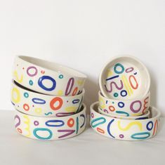 The btw CERAMICS Doodle Dog Bowls will bring a little color into your pooch's life! These pieces are meticulously handcrafted exclusively for DOG & CO. by