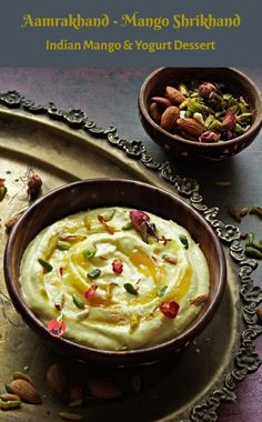 Easy Indian Dessert Recipes, Indian Desserts, Indian Sweets, Sweet Desserts, Desert Recipes, Easy Desserts, Indian Food Recipes, Shrikhand Recipe, Navratri Recipes