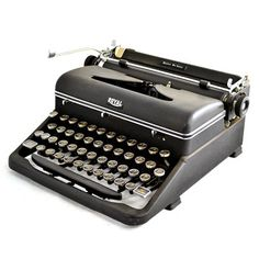 49 Royal Quiet Deluxe, $458, now featured on Fab. This is the machine I learned touch-typing on in high school.   bad-ass boutique is asking $458, marked down from $595.  I would love to know what the school paid for it 20 years before I graduated.