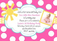 Sunshine Invitations