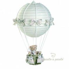 Lampe montgolfière ours beige <3