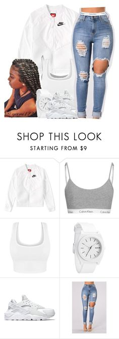 """""""untitled #194"""" by yani122 ❤ liked on Polyvore featuring NIKE and Calvin Klein #Accessoriesteenscasual"""