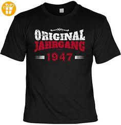 Geburtstags Jubiläum T-Shirt Herren/Unisex, ideales Geschenk: Original Jahrgang 1947 - Shirts zum 70 geburtstag (*Partner-Link)