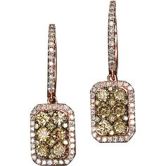 Lord and Taylor -- Effy Collection Brown Diamond Drop Earrings In 14 Kt. Rose Gold, 1.77 Ct. T.W.  Gee, and they're on sale!  ;-)