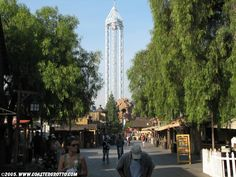 Knotts Berry Farm California  That drop ride -- 300 feet high!  -- never again.  I can't cry again like that in public!